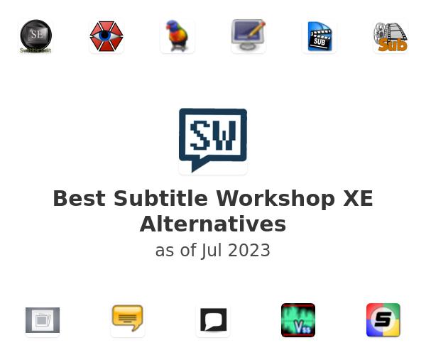 Best Subtitle Workshop XE Alternatives