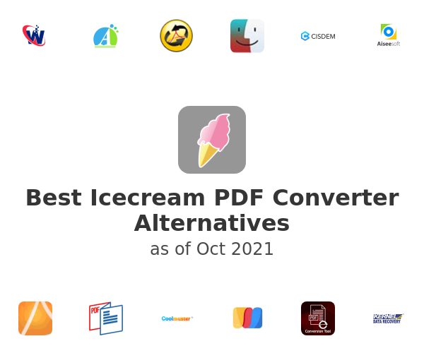 Best Icecream PDF Converter Alternatives