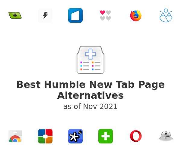 Best Humble New Tab Page Alternatives