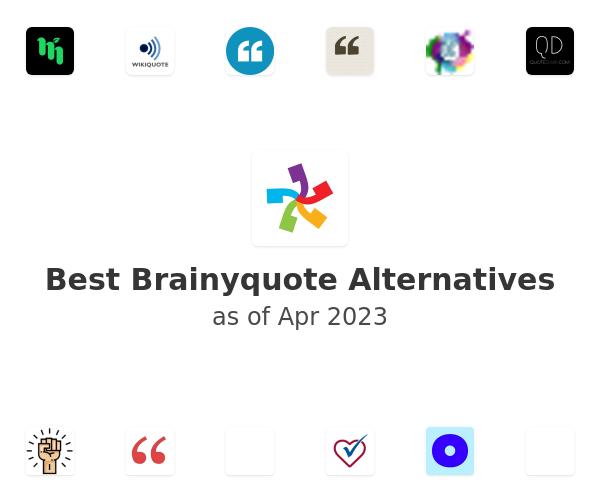 Best Brainyquote Alternatives