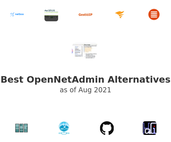 Best OpenNetAdmin Alternatives