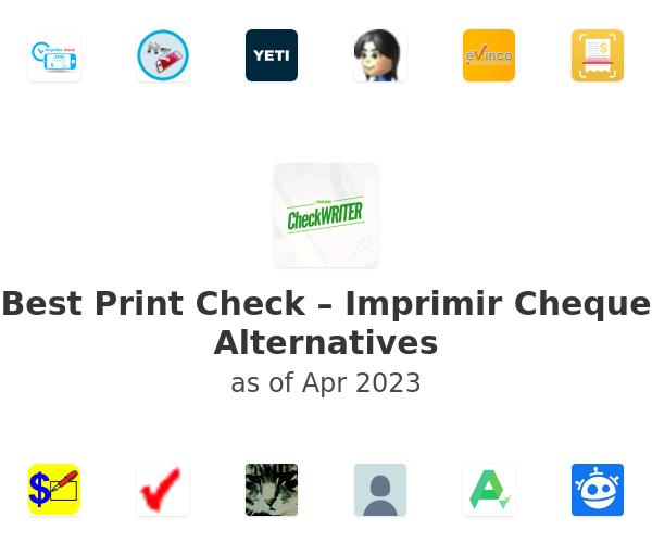 Best Print Check – Imprimir Cheque Alternatives