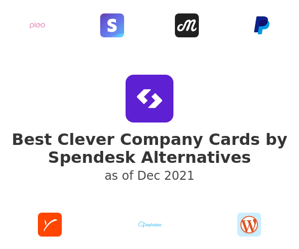 Best Clever Company Cards by Spendesk Alternatives