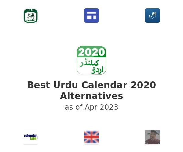 Best Urdu Calendar 2020 Alternatives