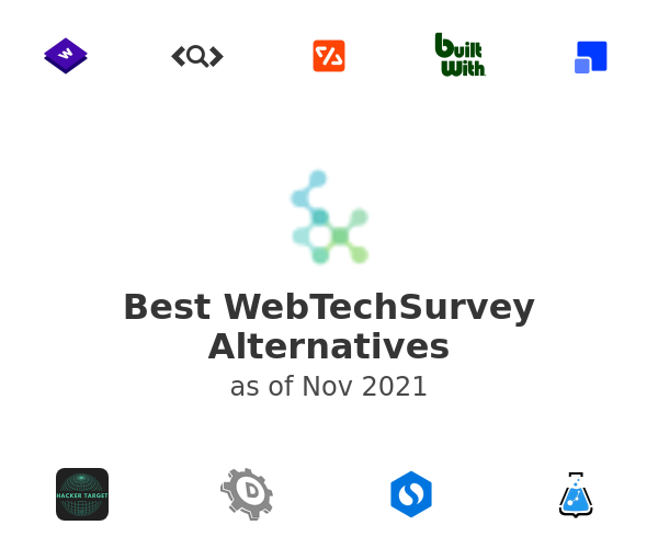Best WebTechSurvey Alternatives