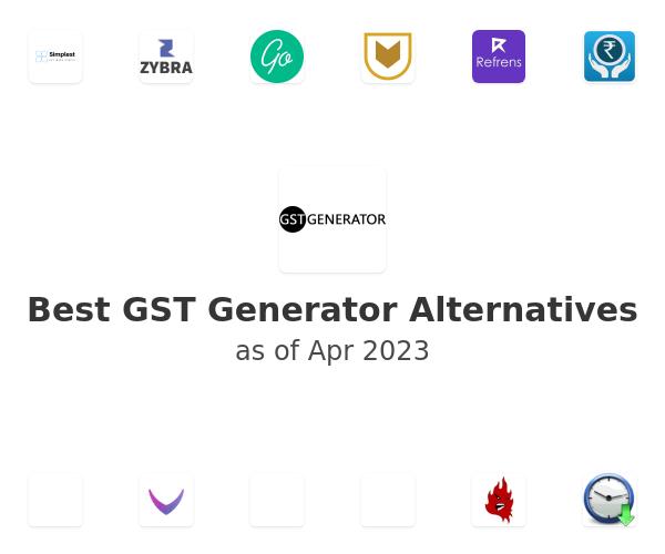 Best GST Generator Alternatives