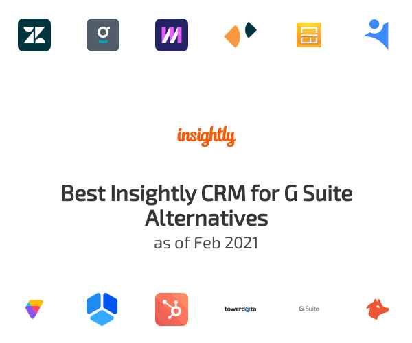 Best Insightly CRM for G Suite Alternatives