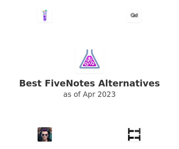 Best FiveNotes Alternatives