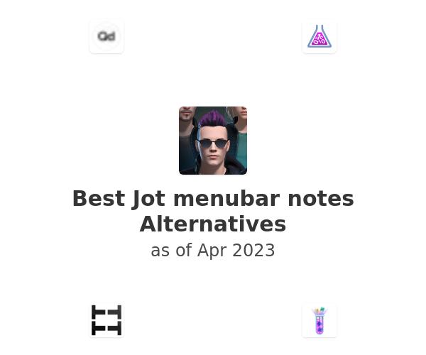 Best Jot menubar notes Alternatives