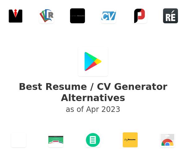 Best Resume / CV Generator Alternatives