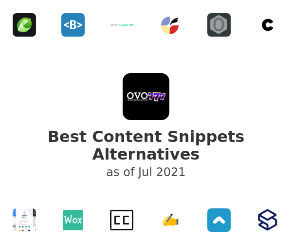 Best Content Snippets Alternatives