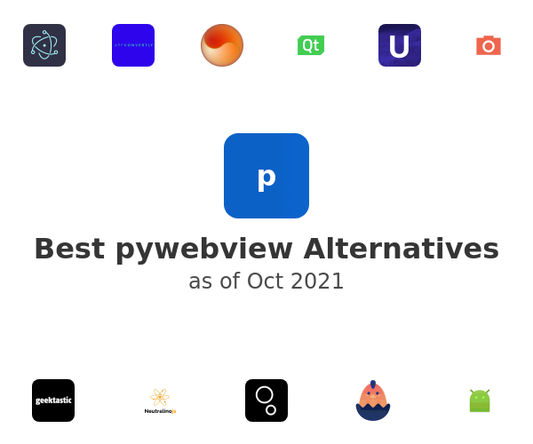 Best pywebview Alternatives