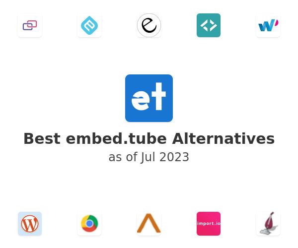 Best embed.tube Alternatives