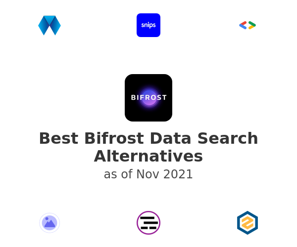 Best Bifrost Data Search Alternatives
