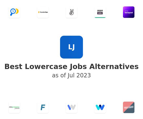 Best Lowercase Jobs Alternatives