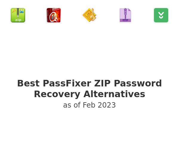 Best PassFixer ZIP Password Recovery Alternatives