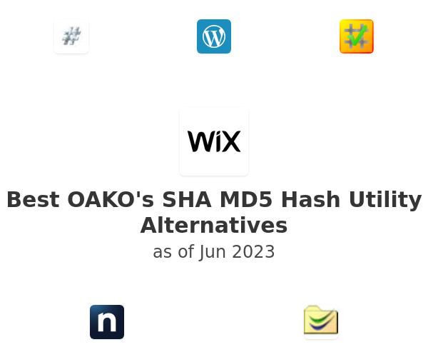 Best OAKO's SHA MD5 Hash Utility Alternatives