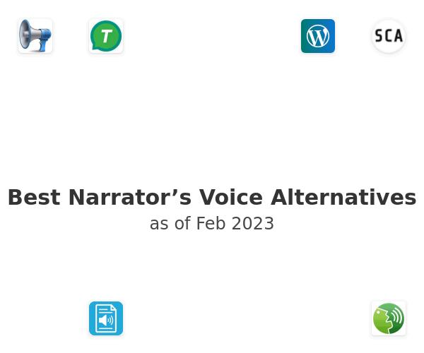 Best Narrator's Voice Alternatives