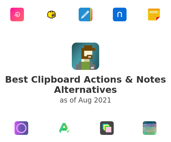 Best Clipboard Actions & Notes Alternatives