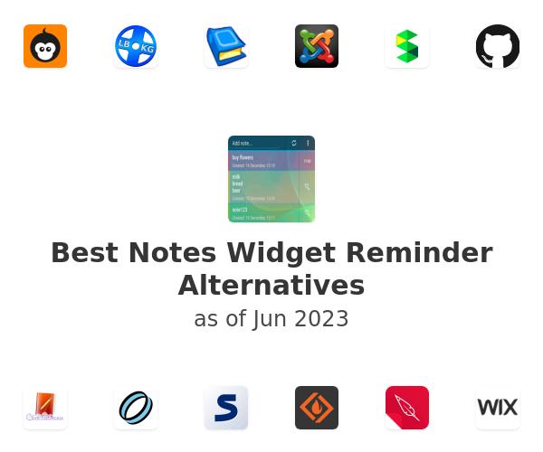 Best Notes Widget Reminder Alternatives