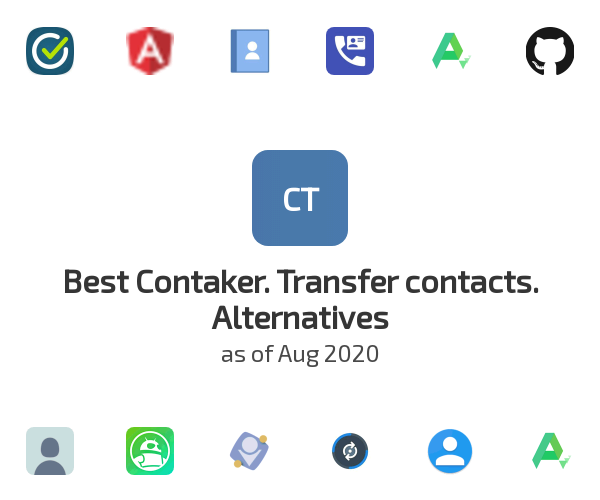 Best Contaker. Transfer contacts. Alternatives