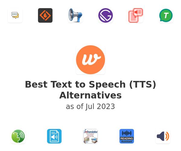 Best Text to Speech (TTS) Alternatives