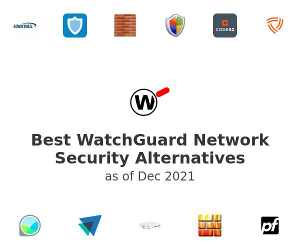 Best WatchGuard Network Security Alternatives