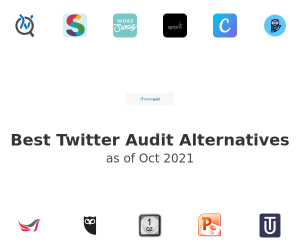 Best Twitter Audit Alternatives