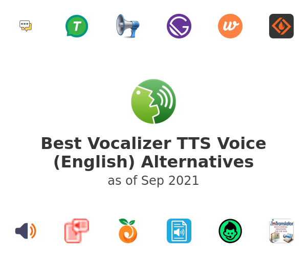 Best Vocalizer TTS Voice (English) Alternatives