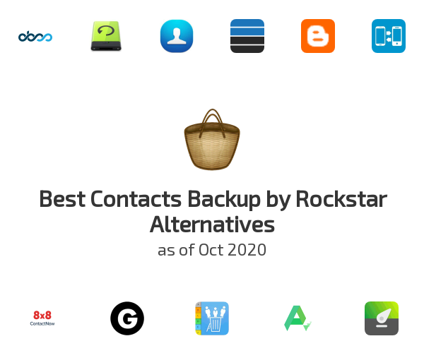 Best Contacts Backup by Rockstar Alternatives