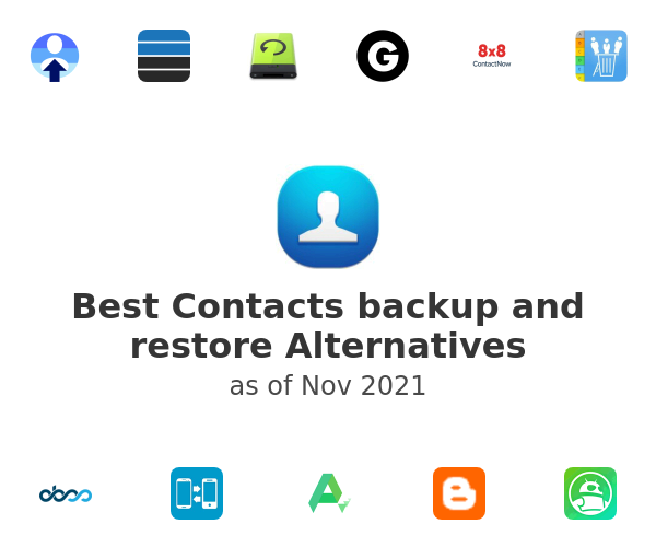Best Contacts backup and restore Alternatives
