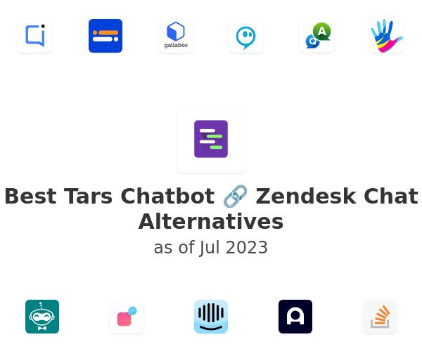 Best Tars Chatbot 🔗 Zendesk Chat Alternatives