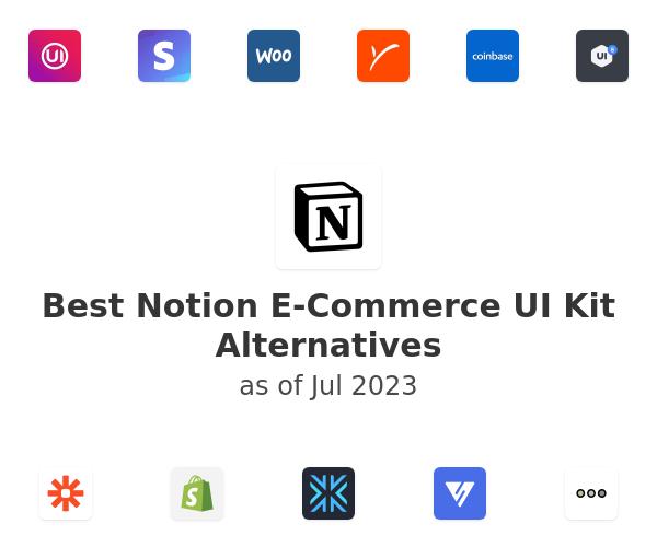 Best Notion E-Commerce UI Kit Alternatives