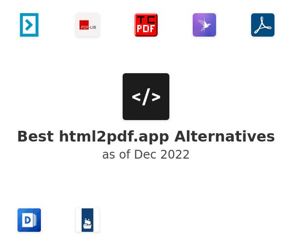 Best html2pdf.app Alternatives