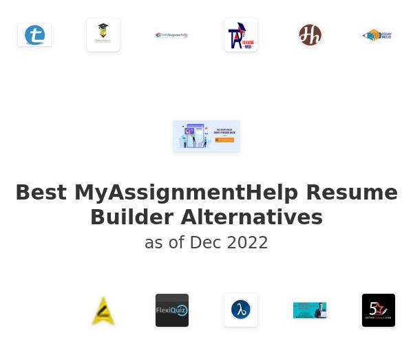 Best MyAssignmentHelp Resume Builder Alternatives
