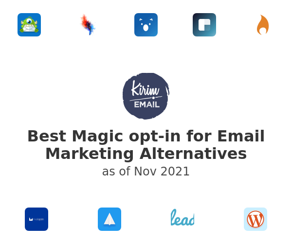 Best Magic opt-in for Email Marketing Alternatives