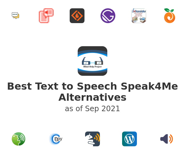 Best Text to Speech Speak4Me Alternatives