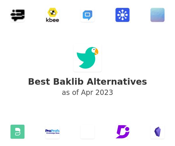 Best Baklib Alternatives
