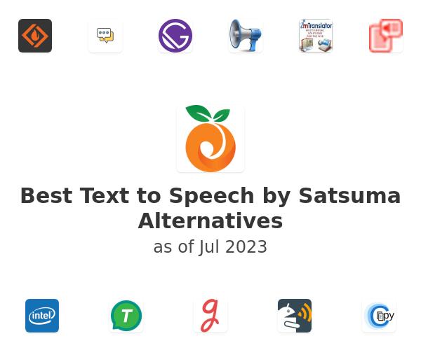 Best Text to Speech by Satsuma Alternatives
