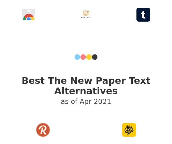 Best The New Paper Text Alternatives