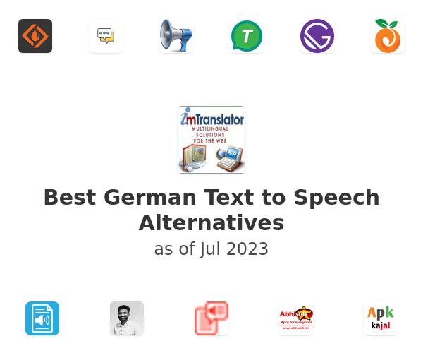Best German Text to Speech Alternatives