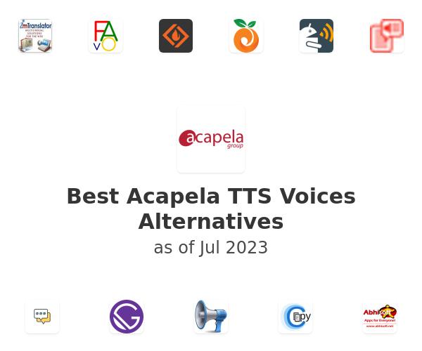 Best Acapela TTS Voices Alternatives