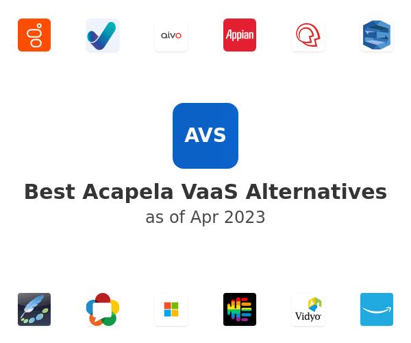 Best Acapela VaaS Alternatives