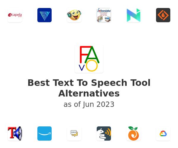Best Text To Speech Tool Alternatives