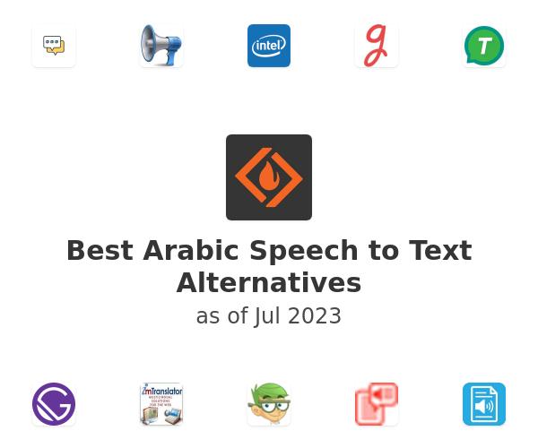 Best Arabic Speech to Text Alternatives