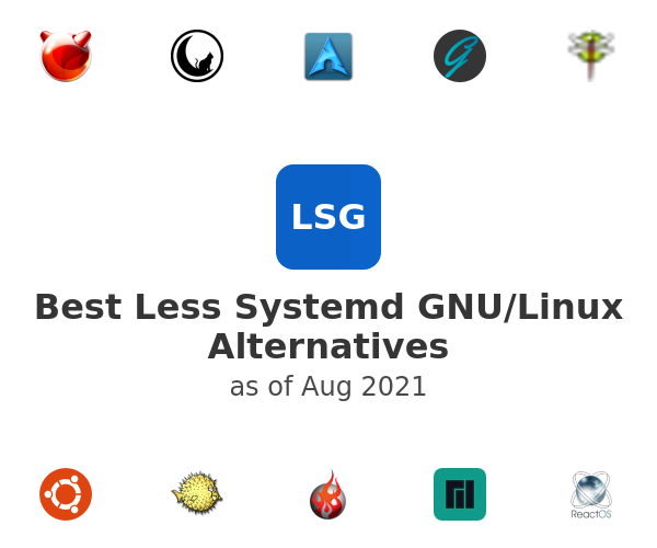 Best Less Systemd GNU/Linux Alternatives