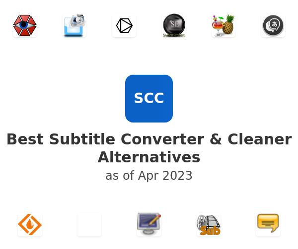Best Subtitle Converter & Cleaner Alternatives