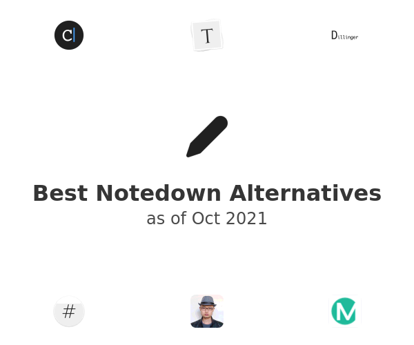 Best Notedown Alternatives