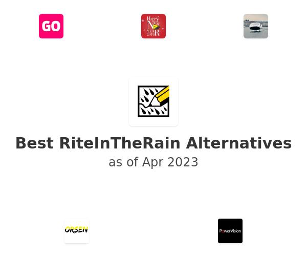 Best RiteInTheRain Alternatives