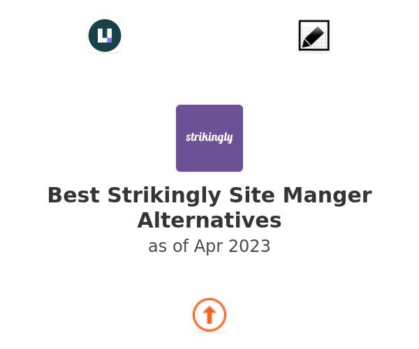 Best Strikingly Site Manger Alternatives